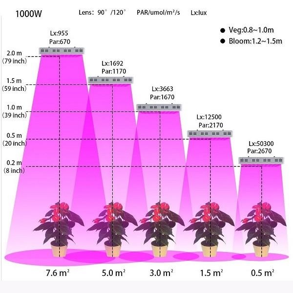 1000w 199 Ift Chips 10w Led Full Spectrum Bitki